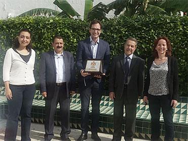 Visite d'une délégation de haut</br>cadre du ministère de la justice</br> jordanienne