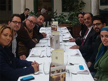 <b>Déjeuner-Débat avec les journalistes : </b></br>La réhabilitation un droit pour les</br>survivants de la torture, à l'occasion</br>de la Journée Internationale des</br>droits de l'Homme et le 1er</br>Anniversaire de l'Institut Tunisien de</br>Réhabilitation NEBRAS.